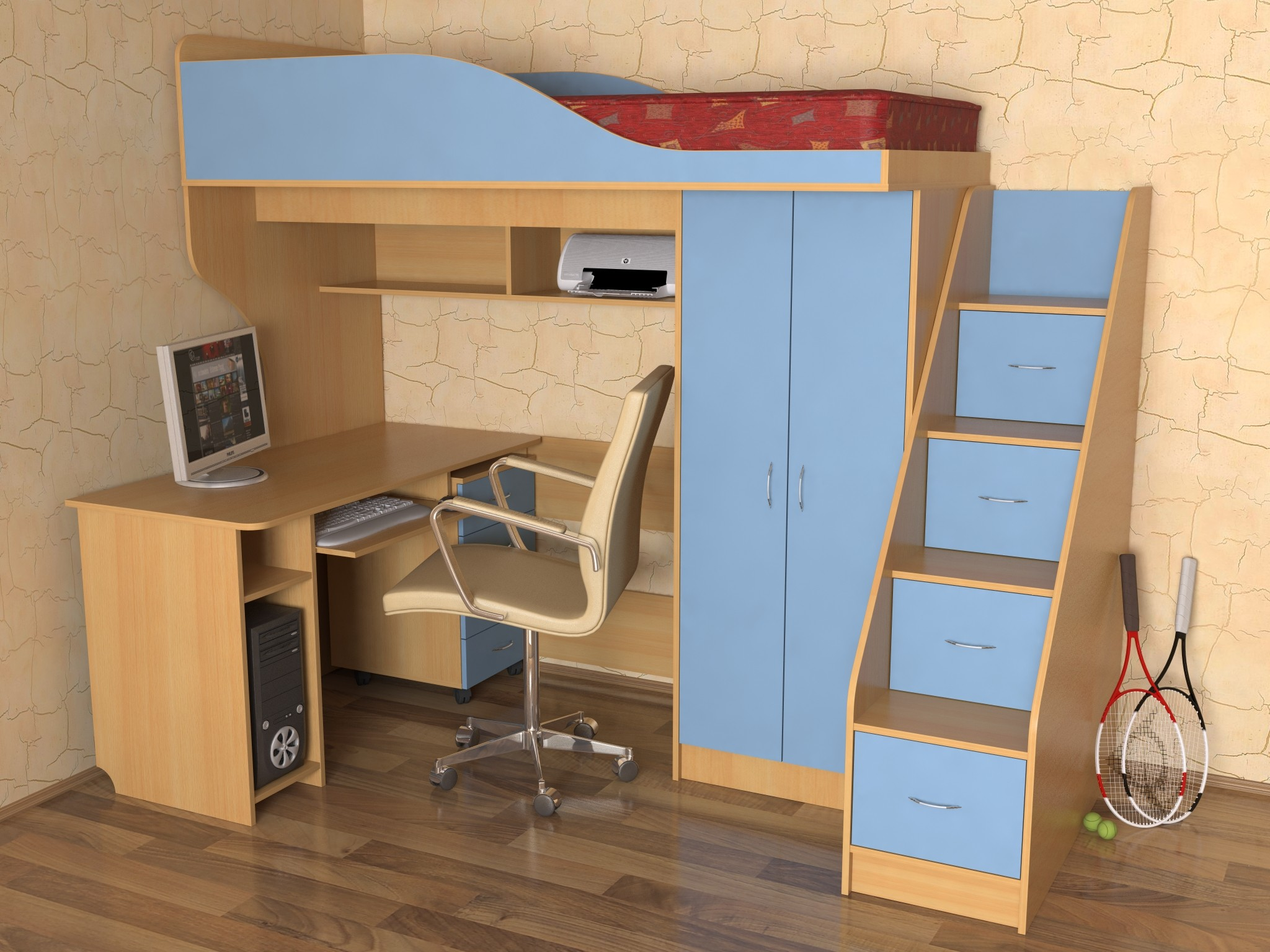 Set of furniture for a children's room